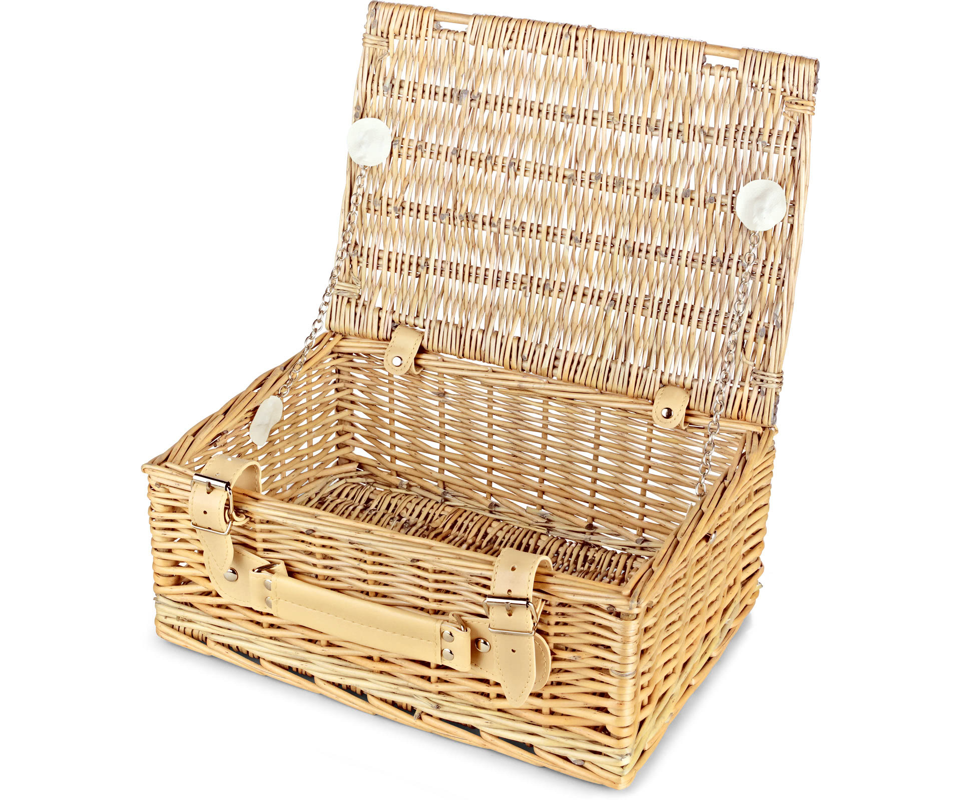 Empty Wicker Gift Baskets : Empty wicker hamper basket lidded standard