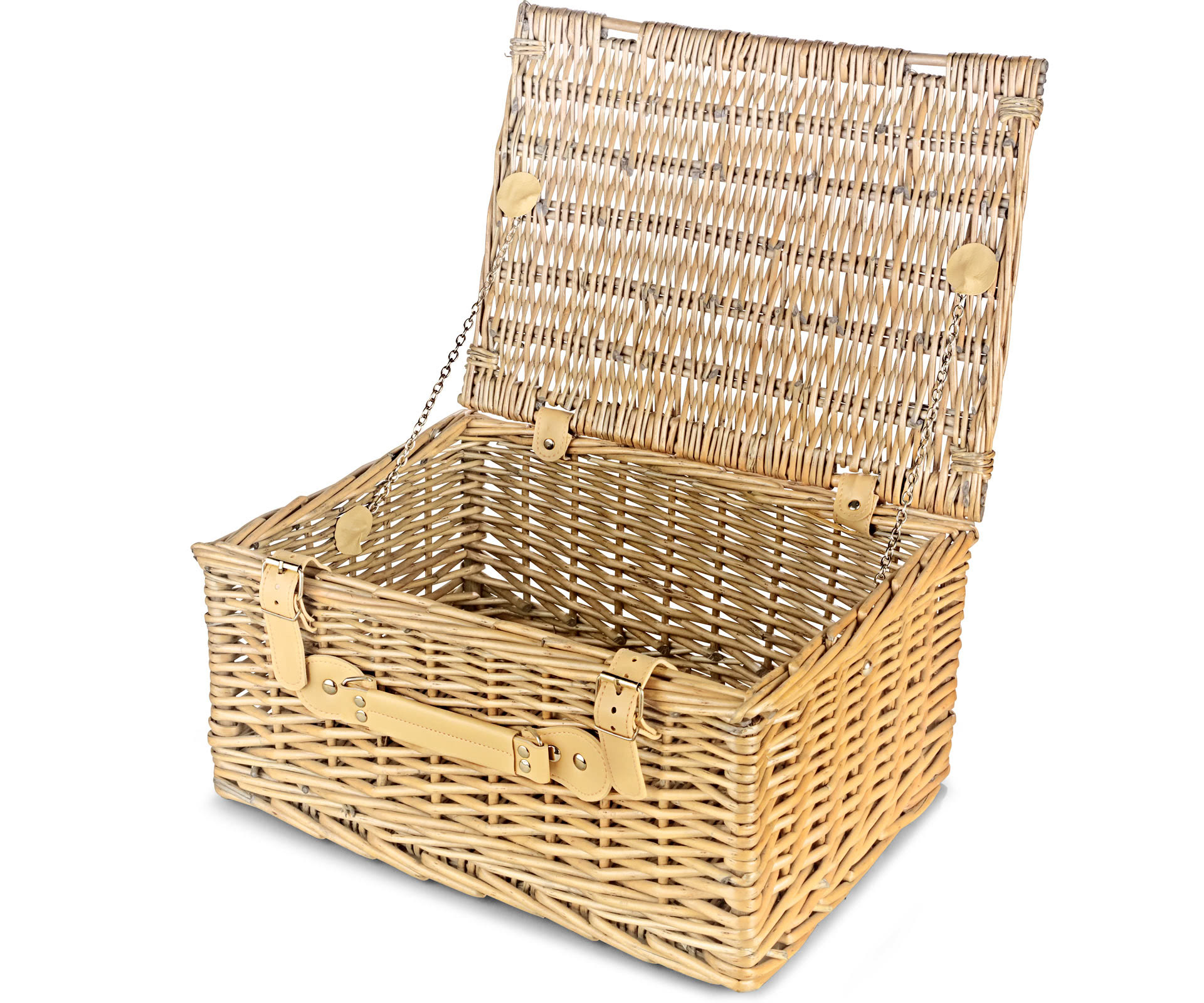 Empty Wicker Gift Baskets : Empty wicker hamper basket lidded large hampers